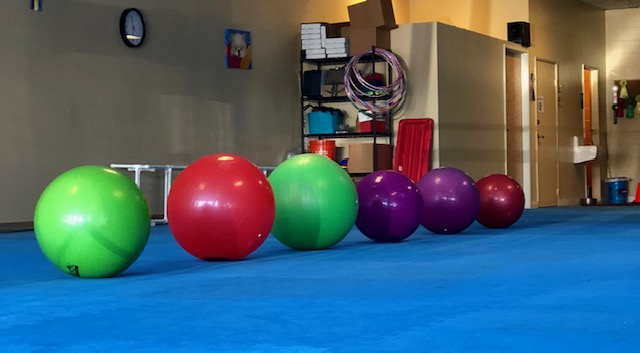 Photo of 6 different sized fitness balls