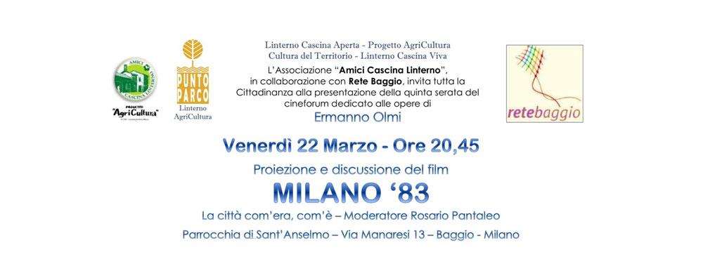 """22 marzo: """"Cineforum dedicato alle opere di Ermanno Olmi"""""""