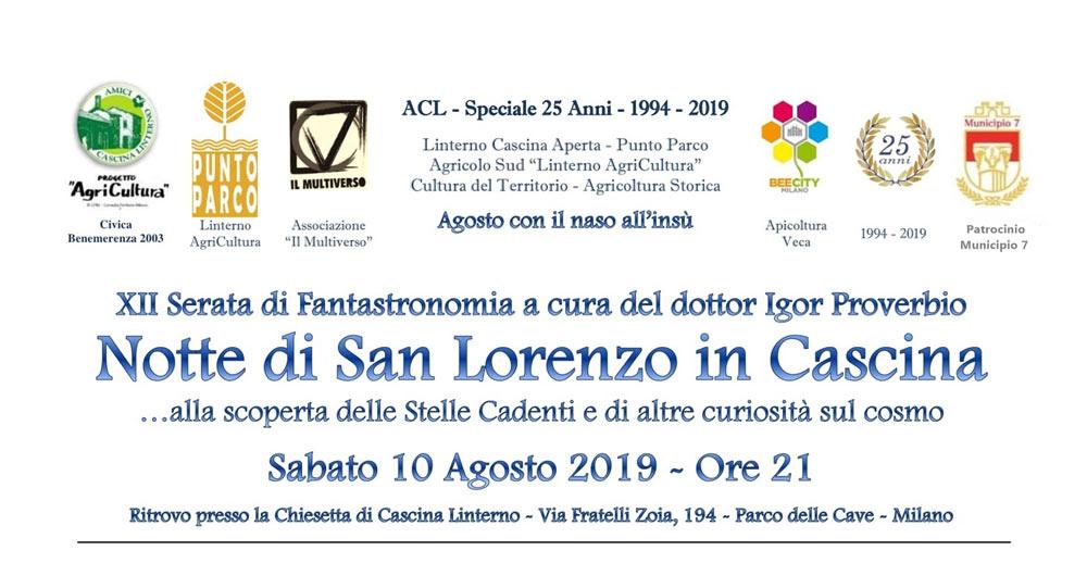 """10 agosto: """"Notte di San Lorenzo in Cascina"""""""
