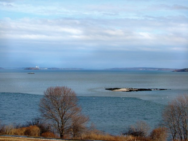 After a rainstorm, millions of gallons of polluted stormwater pour into Casco Bay.