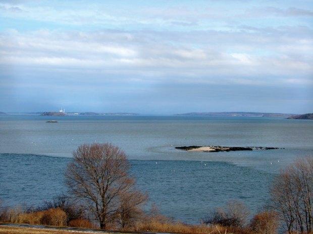Presumscot River Creates a Brown Bay