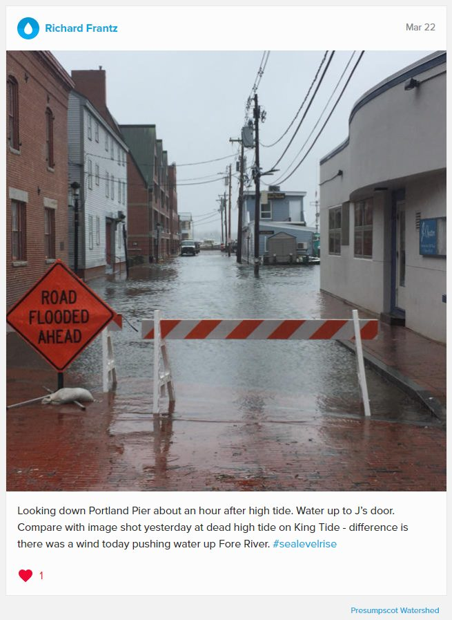 Rick's Water Reporter Post on #sealevelrise