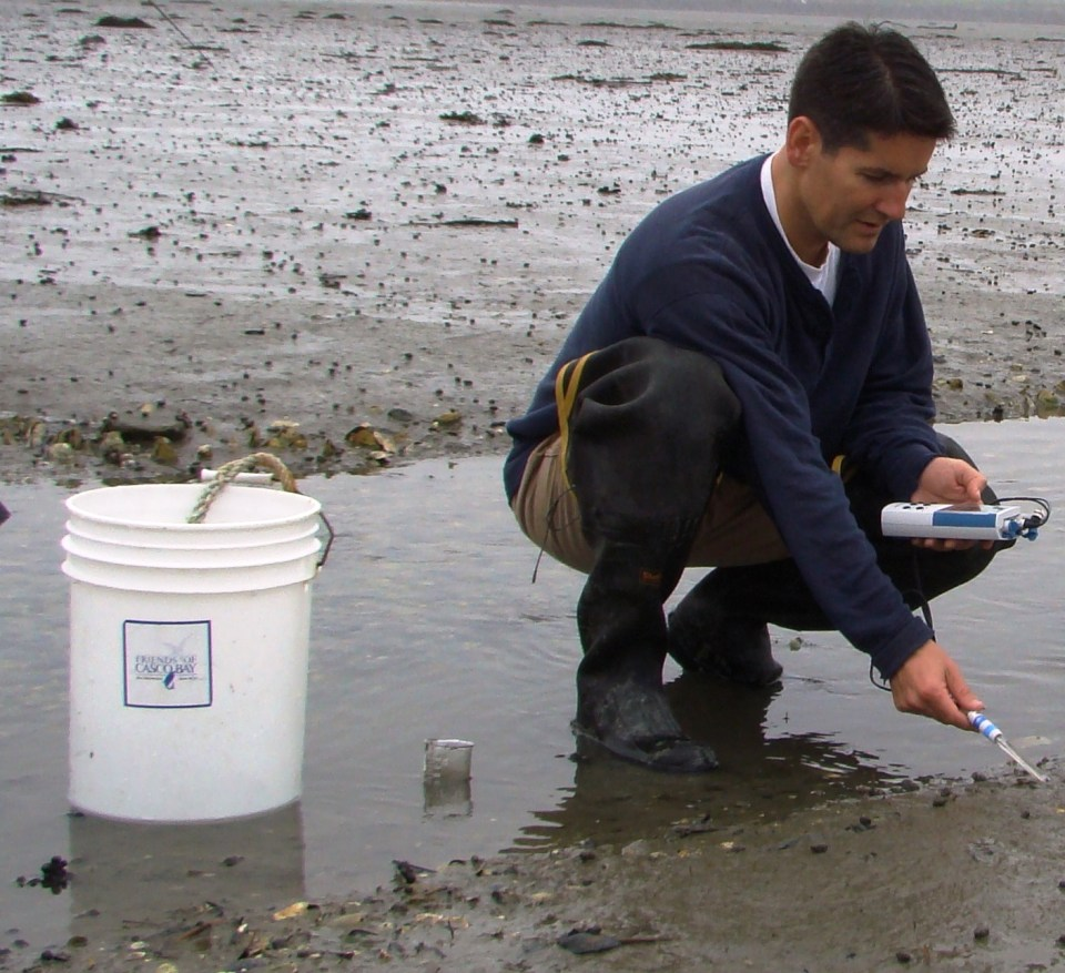 Measure acidity on clam flats