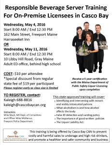 On Premise SS Training Flyer Spring 2016 Combined