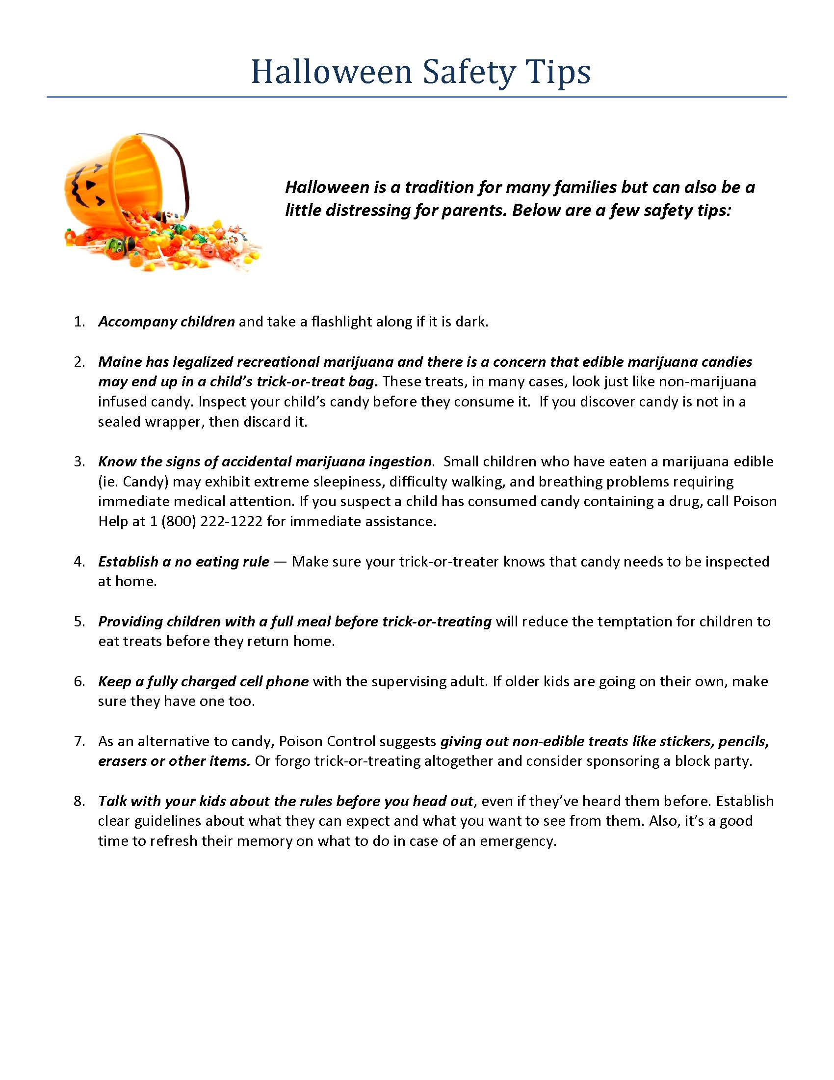 news events halloween safety tips