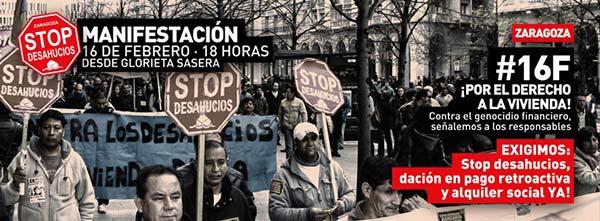 Manifestación por el derecho a la vivienda. #16F