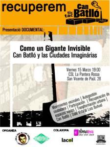 Documental: Como un gigante invisible. Can Batlló y las Ciudades Imaginarias