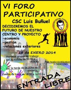 VI Foro participativo. Centro Social Comunitario Luis Buñuel