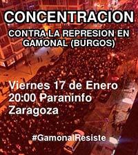 Concentración x #Gamonal. Paraninfo 17Ene 20h Zgz