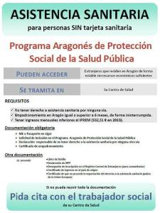 Asistencia sanitaria para personas sin tarjeta sanitaria en Aragón