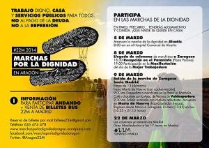 Marchas por la Dignidad 22M en Zaraogza
