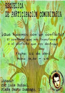 Escuelica de Participación Comunitaria: ¿qué hacemos con un conflicto?