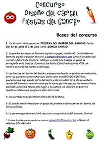 Bases concurso cartel Fiestas Populares del Gancho 2016.