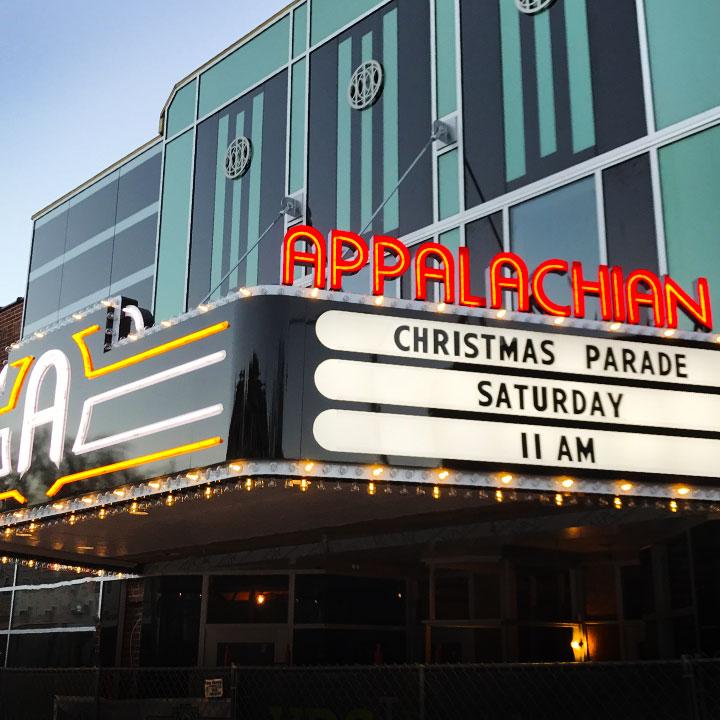 Appalachian Theater Marquee