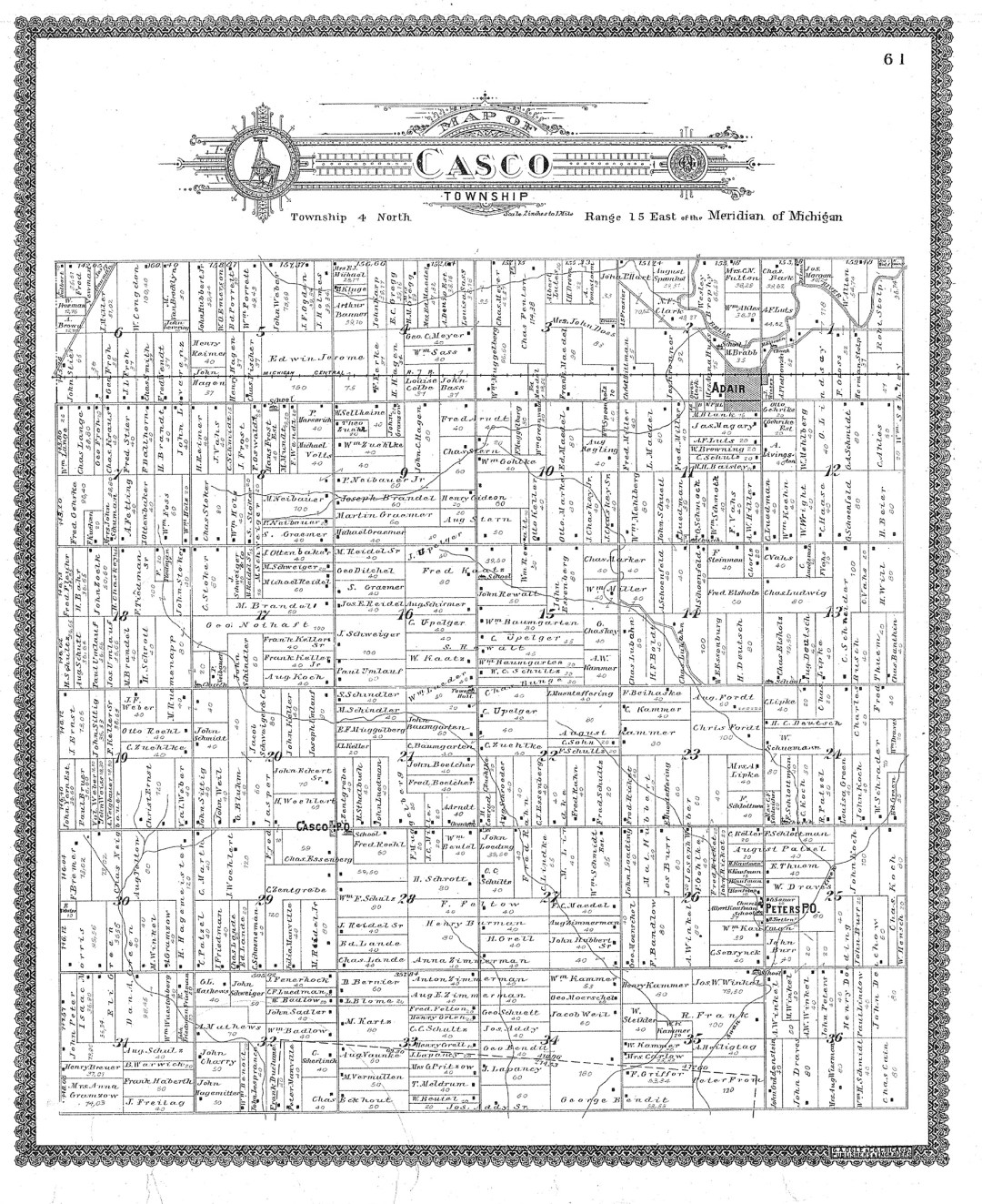 1897 Atlas of Casco Township, Michigan