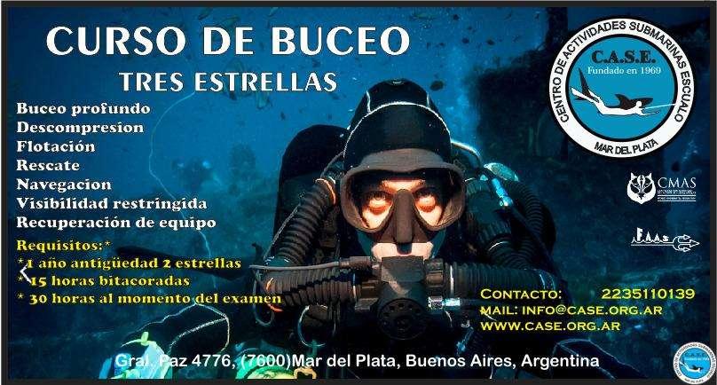 9-3, 21:30 hs.,Curso de Buceo Deportivo 3 Estrellas 1