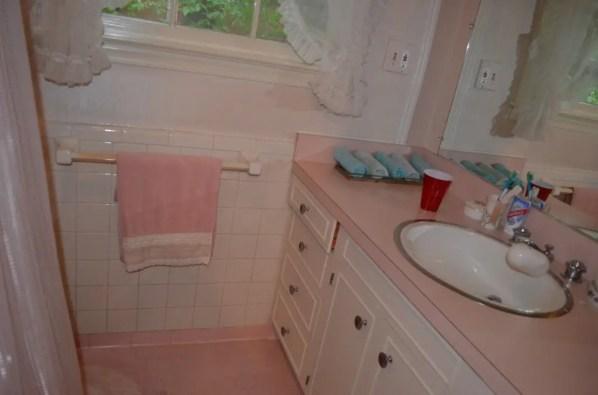 Before photo of master bathroom