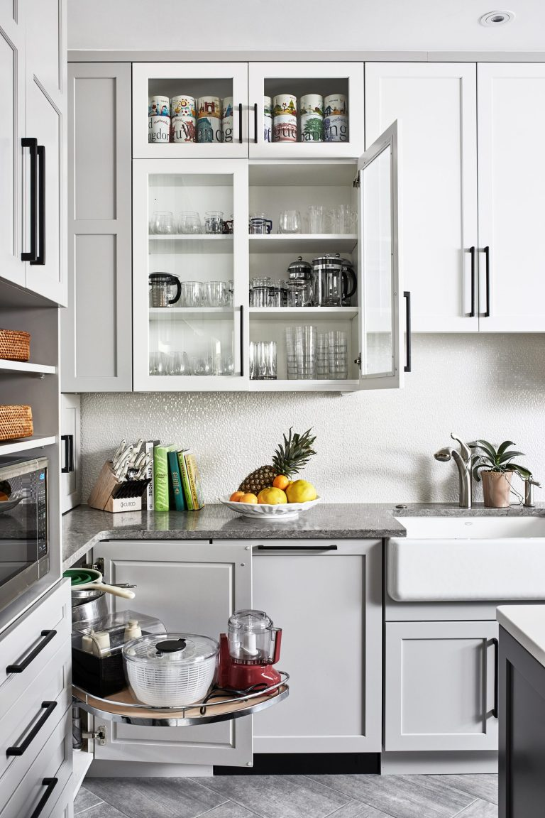 cabinets with 1-tier left door mount curve pull out shelves for blind right corner base cabinet