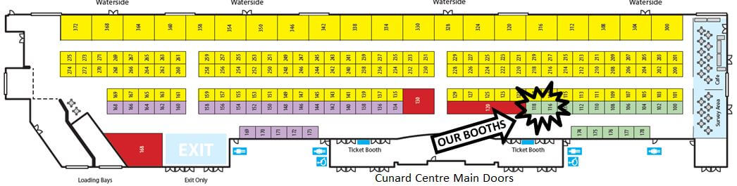 the 2017 real home show booth map