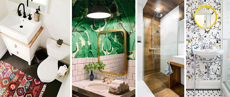 Bathroom colour and texture