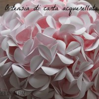 Ortensie di carta acquerellata * Watercolor paper Hydrangea