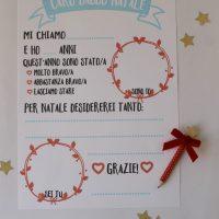 Lettera  a Babbo Natale stampabile