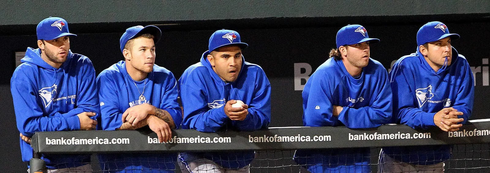 The Jays watching their game.