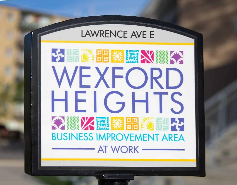 Scarborough Dishcrawl II — Wexford Heights BIA Sign