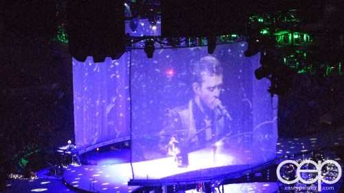 2007 Justin Timberlake FutureSex/LoveShow Toronto — A projection of Justin Timberlake