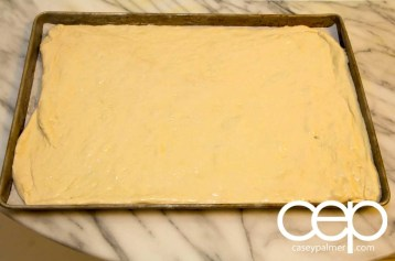 Persimon® Says — Persimon® and Chorizo Pizza — Kneaded Dough in the Tray