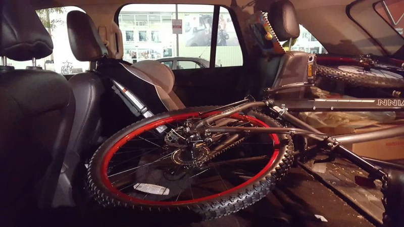 In It to Schwinn It — How the Biking Behemoth Got Me Back on Two Wheels! — Taking my Schwinn Onus Home in my 2011 Ford Edge