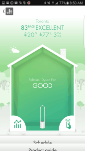 The Dyson Pure Cool Link — Dyson Link App — Air Quality