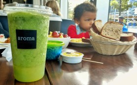 An Aroma Kidz Adventure — Why I Can't Take My Kidz ANYWHERE. — Chilling at the Table with an Ice Lemon-Mint