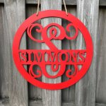 round monogram door hanger