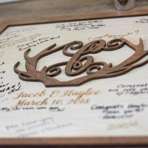 Antler Wood Guest Book