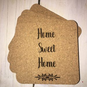 home sweet home coasters