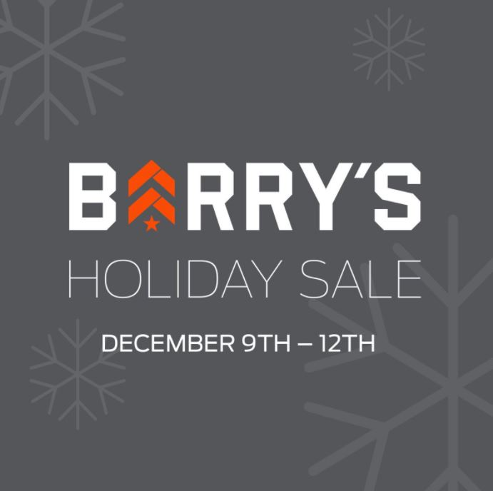 When is Barry's Bootcamp Holiday Sale?