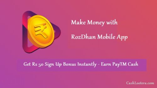Earn money with the RozDhan app