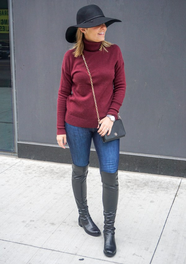 Floppy Hat & Over the Knee Boots