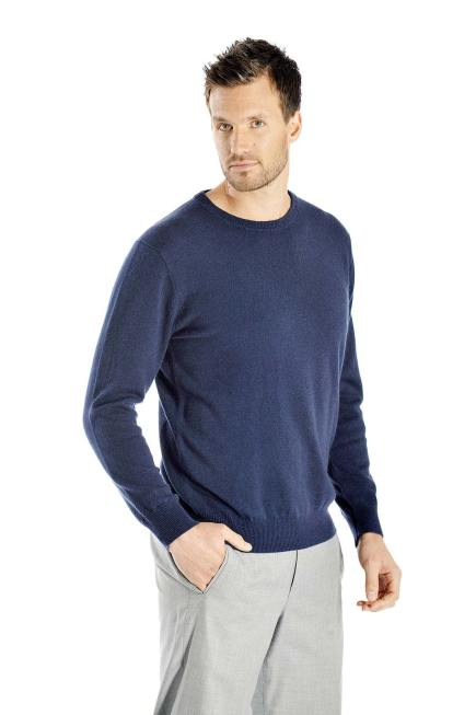 Pure Cashmere Crew Neck Sweater for Men