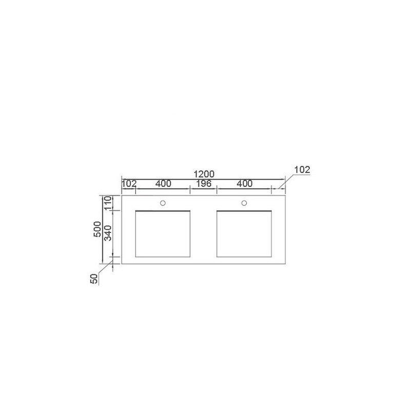 Plan Double Vasque Rectangulaire 120 Cm Www Cashotel Fr