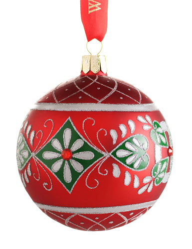 Waterford Holiday Heirloom Aileen Ball Ornament Cashs