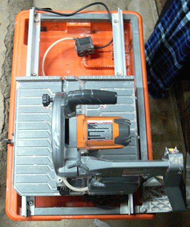 cash usa pawnshop rigid r4030 tile saw with stand