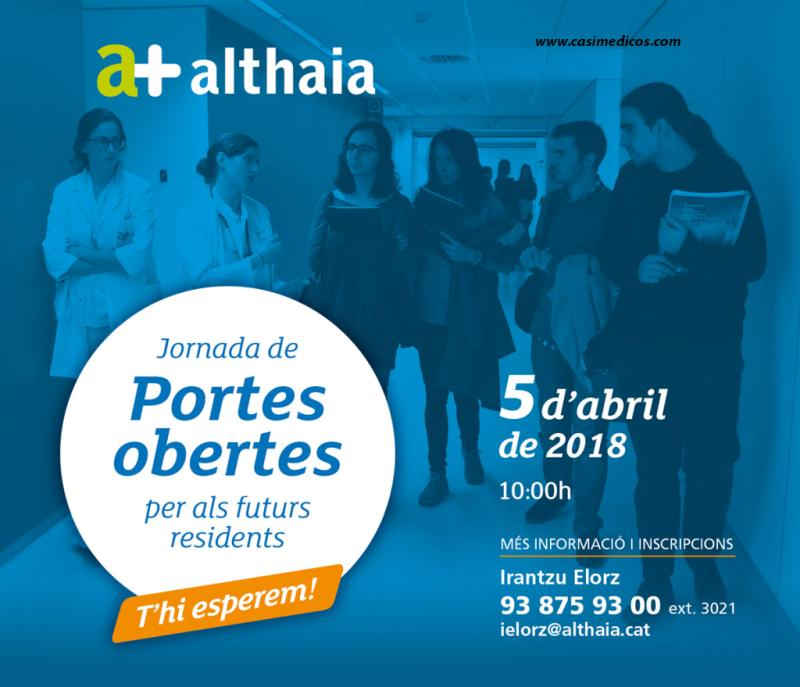 Jornada Portes Obertes MIR/IIR Althaia (Manresa) 2018 @ Fundació Althaia (Manresa) | Manresa | Spain