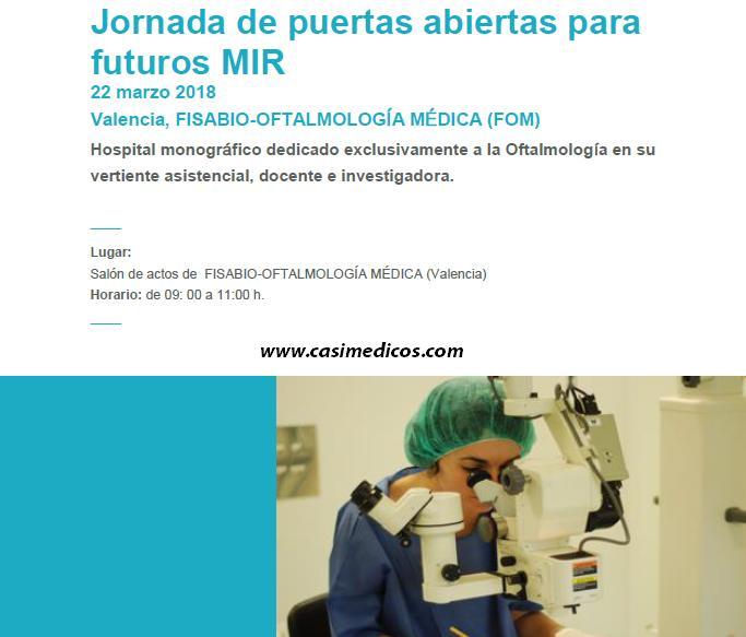 Jornada de Puertas Abiertas de Futuros MIR de Oftalmología Fisabio 2018 @ Fisabio Oftalmología Médica | València | Comunidad Valenciana | Spain