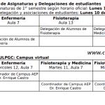 2. Presentaciones de Asignaturas y Delegaciones de estudiantes