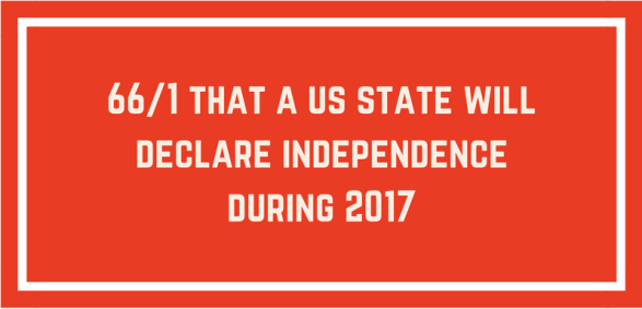 odds on state independence before 2017 ends