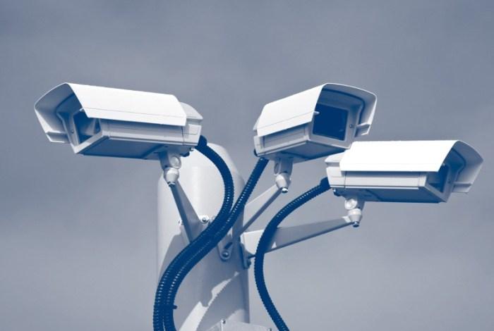 cluster of cctv cameras