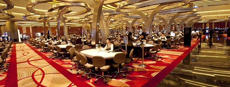 The casino floor inside Marina Bay Sands