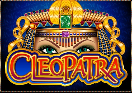 The logo from the slot game Cleopatra